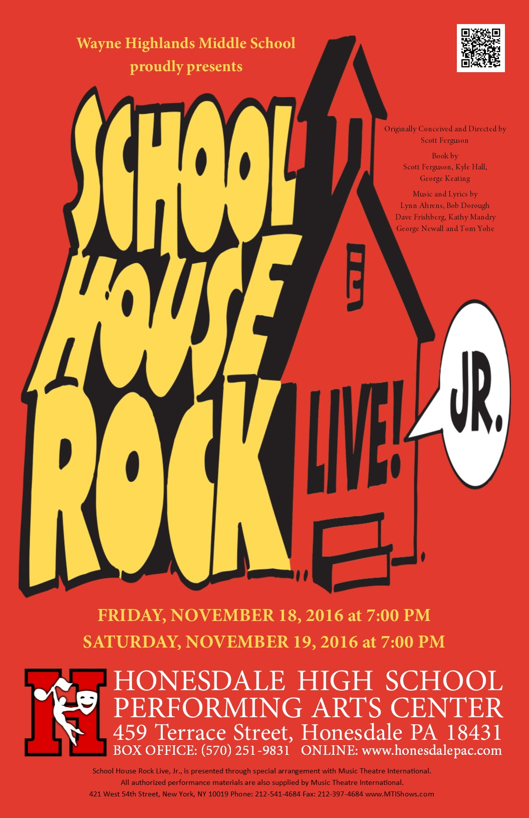 Honesdale Performing Arts Center :: School House Rock Live Jr